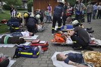 Am Verletztensammelplatz werden die geretteten Mimen versorgt und betreut.