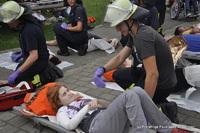 Nach der Rettung findet hier die Erstversorgung und die Übergabe an den Rettungsdienst statt.