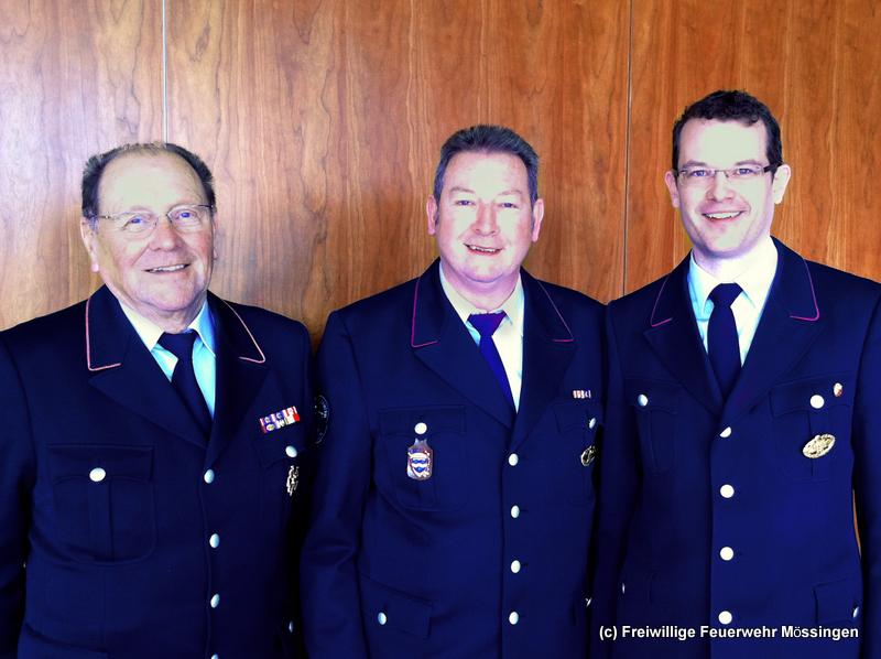 Die Ausbildungsleiter Sprechfunk (von links): Paul Breitmaier FF Kirchentellinsfurt (1980-1995), Karl Steinhilber (1995-2003) und Stephan Pflumm FF Mössingen (seit 2003).