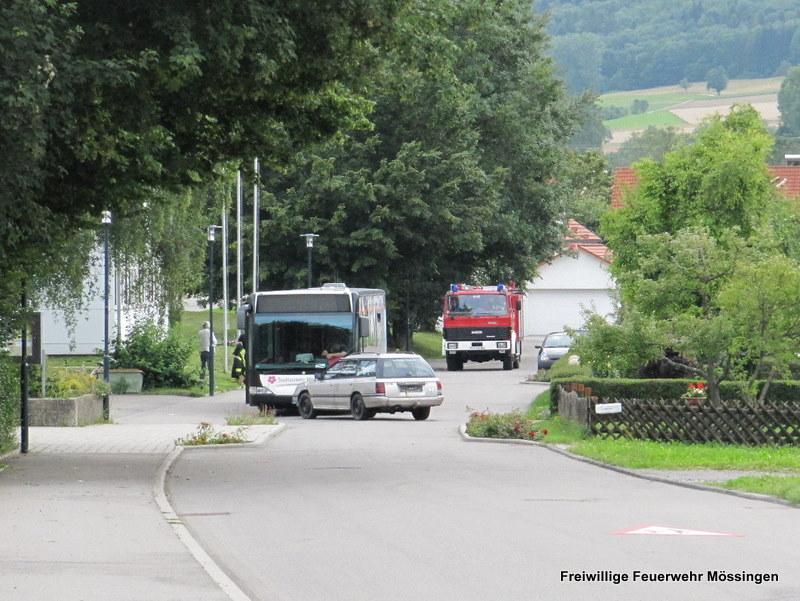 Das Talheimer Löschfahrzeug auf der Anfahrt zur Einsatzstelle.